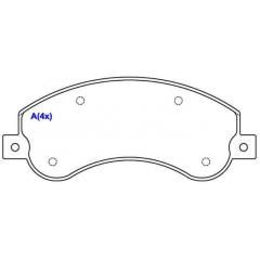 Pastilha de freio dianteira Amarok SYL 2047