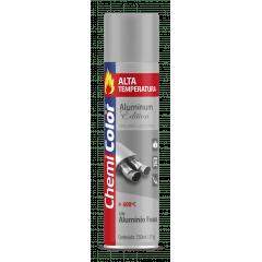 Tinta Spray Aluminio Fosco Alta temperatura 350ml Chemicolor