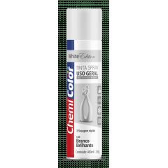 Tinta Spray Branco Brilhante Uso geral 400ml Chemicolor