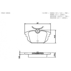 Pastilha de freio 145 146 155 Spider Bravo Marea Cobreq N-559