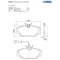 Pastilha de freio Cobreq N-607