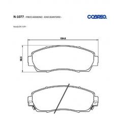 Pastilha de freio Acura RDX CR-V Odyssey Cobreq N-1077