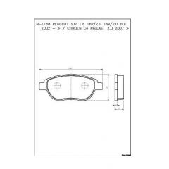 Pastilha de freio Aircross C3 C4 DS3 2008 207 208 307 308 408 Cobreq N-1168