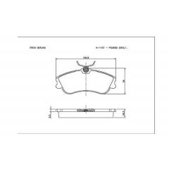 Pastilha de freio Berlingo Xsara Picasso 207 306 Hoggar Partner Cobreq N-1157