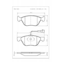 Pastilha de freio Bravo Marea Alfa Romeo 145 146 147 155 156 Dedra Delta Libra Cobreq N-534