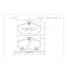 Pastilha de freio Civic Cobreq N-835