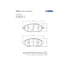 Pastilha de freio Cobalt Sonic Spin Aveo Kalos Cobreq N-378