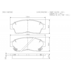 Pastilha de freio Corolla Camry Corona Rav-4 Cobreq N-841