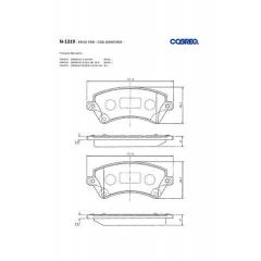 Pastilha de freio Corolla Cobreq N-1319