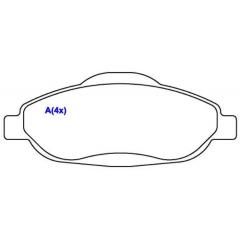 Pastilha de freio dianteira C4 308 408 SYL 1338