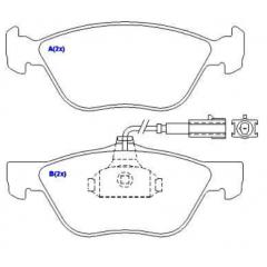 Pastilha de freio dianteira 145 146 155 Spinder Brava Bravo Doblo Idea Linea Palio SYL 1180