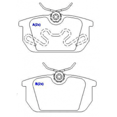 Pastilha de freio traseira Punto Tempra Tipo Spinder 145 146 GTV SYL 1001