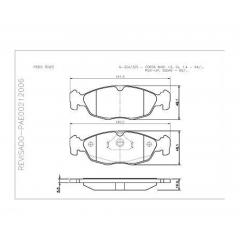 Pastilha de freio dianteira Celta Classic Corsa Prisma Tigra Cobreq N-324