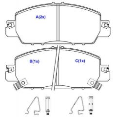 Pastilha de freio dianteira Civic SYL 4256