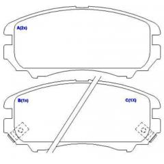 Pastilha de freio dianteira Sportage Tucson Soul Coupe Sonata Cadenza Optima Magentis SYL 2274