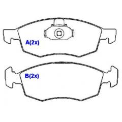 Pastilha de freio dianteira Doblo SYL 1200