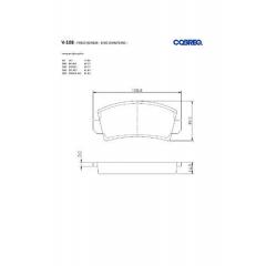 Pastilha de freio dianteira Dodge 1800 Polara 147 Fiorino Oggi Panorama Spazio Belina Corcel Del Rey Pampa Cobreq N-108