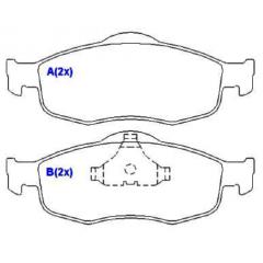 Pastilha de freio dianteira Mondeo Duna Scorpio V70 SYL 1220