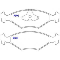 Pastilha de freio dianteira Gol Parati Saveiro SYL 1407