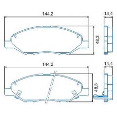 Pastilha de freio dianteira Livina Gran Livina Tiida Jurid HQJ-2247A