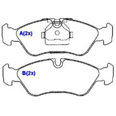Pastilha de freio dianteira Vectra Omega Suprema Aranos Espero Lanos Nexia SYL 1094