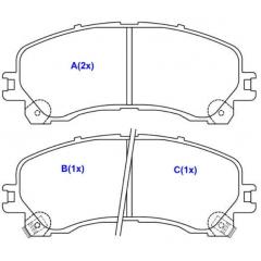 Pastilha de freio dianteira S10 SYL 3119