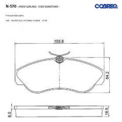 Pastilha de freio Ducato Cobreq N-570