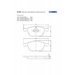 Pastilha de freio Ecosport Focus Mazda 3 Volvo C30 C70 S40 V50 Cobreq N-190
