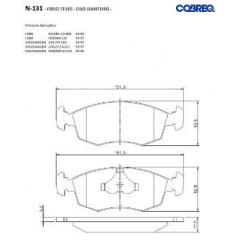 Pastilha de freio Escort Gol Logus Pointer Verona Sierra Scorpio Cobreq N-131