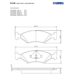 Pastilha de freio Escort Verona Logus Pointer Cobreq N-128
