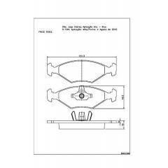 Pastilha de freio Fiorino e Uno Cobreq N-544