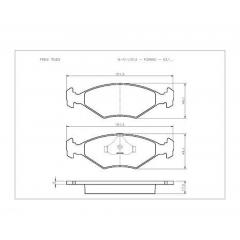 Pastilha de freio Fiorino Tipo Uno Cobreq N-511