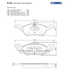 Pastilha de freio Focus Cobreq N-161