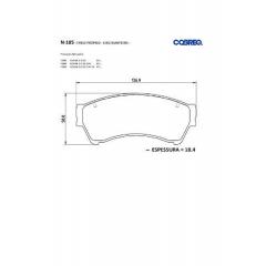 Pastilha de freio Fusion Cobreq N-185