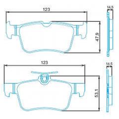 Pastilha de freio traseira Fusion Jurid HQJ-2316