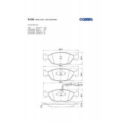 Pastilha de freio Gol Santana Galaxy Royale Versailles Parati Quantum Cobreq N-228