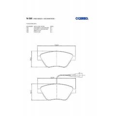 Pastilha de freio Mito 500 Bravo Stilo Cobreq N-569