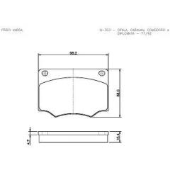 Pastilha de freio Opala Caravan Comodoro Diplomata GTB Cobreq N-303