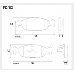 Pastilha de freio Agile Celta Corsa Prisma