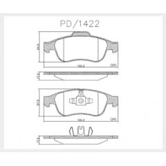 Pastilha de freio dianteira Ds4 Captur Duster Fluence Oroch