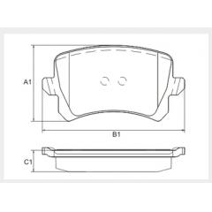 Pastilha de freio dianteira Q3 Jetta Passat Tiguan