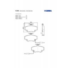 Pastilha de freio Peugeot 205 309 R11 R18 R19 R20 R21 R25 R30 R9 Clio Express Megane Twingo Cobreq N-443
