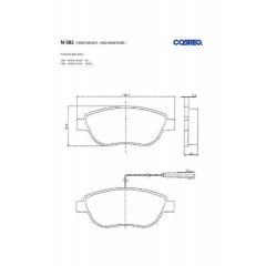Pastilha de freio Stilo Cobreq N-582