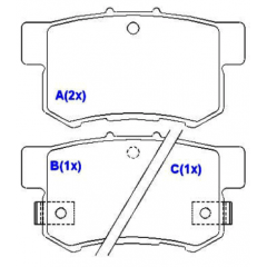 Pastilha de freio traseira Accord Civic Integra Legend Predule S2000 Shuttle Stream Accent SX4 SYL 1258