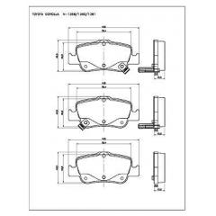 Pastilha de freio traseira Auris e Corolla Cobreq N-1368