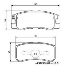 Pastilha de freio traseira C4 Avenger Caliber H-1 Compass Patriot ASX Grandis Outlander Pajero 4007 4008