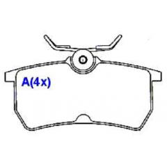 Pastilha de freio traseira Focus SYL 1241
