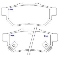 Pastilha de freio traseira Integra Civic Fit SYL 1259