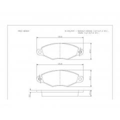 Pastilha de freio Xsara Kangoo Cobreq N-446