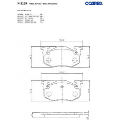 Pastilha de freio Xsara Saxo ZX 205 206 207 306 309 Clio Megane R19 Cobreq N-1159